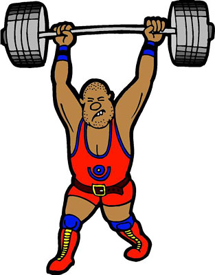wannabe wilber by paul wagner weight lifter clip art free weight lifting clip art silhouette
