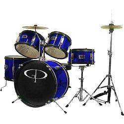 GP Percussion 5 Piece Junior Drum Set his GP Percussion 5-Piece Junior Drum Set helps your child learn to play drums. Designed on a smaller scale than the typical drum set.