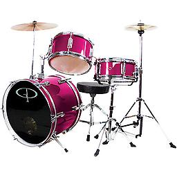 GP Percussion 3 Piece Jr Drumset Perfect set for your little rock star! This Junior Drum Set includes everything your young drummer needs to get started. This may be a beginner's drum set, but it isn't a flimsy toy drum set