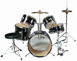 Percussion Plus 5 Piece Jr Drumset The Percussion Plus 5-piece Junior Drum Set is a real drum kit that was designed with the little drummer in mind.