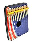 American Flag 12 Note Thumb Piano - Schoenhut's stunningly designed Thumb Pianos are sure to be a hit, and are perfect for encouraging children to play music!