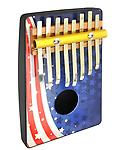 American Flag 8 Note Thumb Piano - Schoenhut's stunningly designed Thumb Pianos are sure to be a hit, and are perfect for encouraging children to play music!