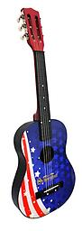 American Flag Acoustic Guitar Your little rock star will take center stage playing Schoenhut's next generation guitar.
