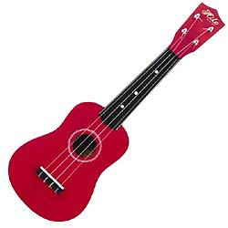 Children's Red Soprano Ukulele Package This adorable RedSoprano Ukulele is easy to play. A perfect beginners ukulele for your little one!