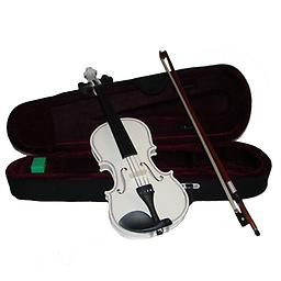 White Children's Violin with Case & Bow This White Childrens Violin is an affordable violin for students of all stages. This violin features hand carved woods and a tremendous tone and quality for the price.