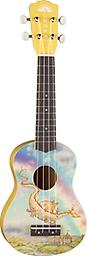 Aurora Children's Dragon Ukulele Fanciful original watercolors by Mary Ann DiNella give these ukuleles their sweet magic. The petite size and nylon strings make for instruments that are ideal for learning, and comfortable to play