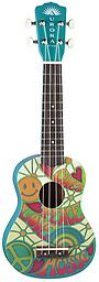 Aurora Children's Peace Ukulele Fanciful original watercolors by Mary Ann DiNella give these ukuleles their sweet magic. The petite size and nylon strings make for instruments that are ideal for learning, and comfortable to play