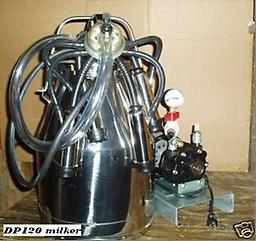 DP120 cow milker DP120 cow milker and complete heavy duty vacuum pump and DeLaval bucket.