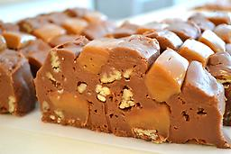 6.TURTLE FUDGE Chocolate fudge with our famous cream caramel and pecans