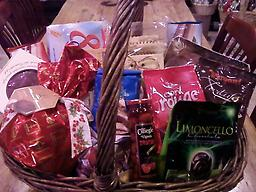 Custom Gift Baskets A variety of Italian goodies chosen by us. We use only the best products from Italy. Call us is you would like to customize your own basket. Shipping is $40.00 or call if you are ordering multiple ba