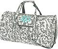 Grey Floral Large Duffel - Travel in style!