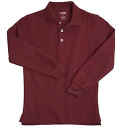 Youth Burgundy LS POLO