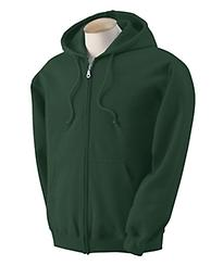 Youth Full-Zip Forest Green Hooded Sweatshirt