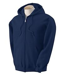 Youth Full-Zip Navy Hooded Sweatshirt