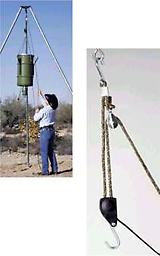 HANG 'EM HIGH HOIST 250 lb Hang em High Hoist is ideal for hoisting heavy and hard to lift items over head and then securing the items without tying knots. This hoist features 20' of solid 3/8 braided rope.This hoist features 2