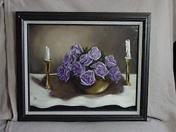 3128 Lavender Roses and Brass