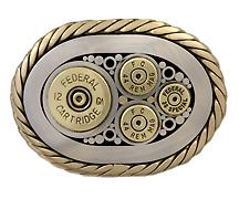 ..12 ga .44 .357 Stainless steel with brass accents.