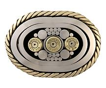 .270 - .45 Stainless steel with brass accents.