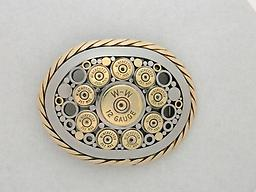 ..12 ga .357 Stainless steel with brass accents.