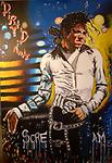 """Moonwalker- Michael Jackson Painting - Vibrant painting done as a tribute to the """"King of Pop"""" Michael Jackson. Very lively color scheme and on point detail. Also has an accompanying video on YouTube """"Moonwalker Michael Jackson""""."""