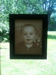 01- Custom Lithophane Display Your photo is carved into an 8X10 lithophane and housed in our custom lighted display frame.