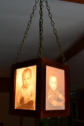 02- Hanging Lamp This custom, four sided hanging lamp creates unique and personalized home lighting and decor options.