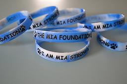 Blue/white swirls ~ Wristband Wristband ~ blue with white swirls