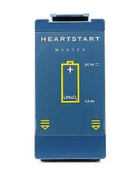 M5070A Philips HeartStart Battery This Genuine Philips disposable,lithium manganese dioxide, long-life battery is for use in the Heartstart FRX and OnSite AEDS. This is the lowest price anywhere with FREE SHIPPING! Buy Yours Today!