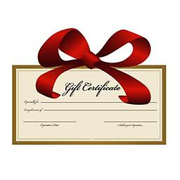 Massage Gift Certificate Select your gift certificate from the pulldown menu above.
