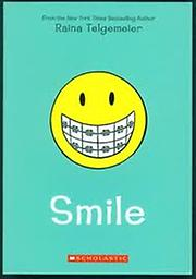 Smile by Raina Telgemeier LABCO books are NEW hardcover, library bound books. All books are stitched, NOT glued. Attractive full-color covers. Easy to wipe clean UV covers.