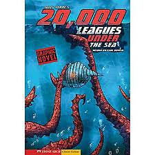 20,000 Leagues Under the Sea: The Graphic Novel LABCO books are NEW hardcover, library bound books. All books are stitched, NOT glued. Attractive full-color covers. Extend your budget by investing in a hardcover book rather than a paperback.