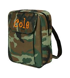 Camo Small Kid Backpack Back to School! Travel to school, daycare, or grandma's in style!