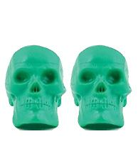 Pair of Skull Egg Shakers Colorful skull egg shakers are perfect for Halloween favors and parties.