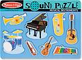 "Melissa and Doug Instrument Sound Puzzle - Hear ""Old MacDonald"" played on eight instruments when pieces are placed correctly in thepuzzle board!"