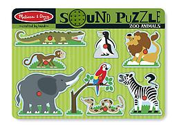 Melissa and Doug Zoo Sounds Puzzle Put each wild animal puzzle piece in its place and listen to its voice!