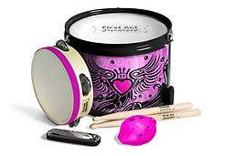 Fun in a Drum - Winged Hearts Pink Instant parade! First Act Discovery's Fun in a Drum is four instruments packed into one!