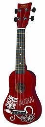 Hawaiian Soprano Ukulele by First Act Aloha! Our soprano ukulele is a Hawaiian tradition of light-hearted fun. The lightweight body makes it easy to hold and transport. Nylon strings produce a softer tone and are easy on little fingers.