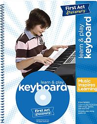 Learn to Play Keyboard (Instructional Booklet & CD) from First Act Discovery Learn and Play Keyboard Book. Play along opportunities on every page. Play along CD with 30 tracks of songs and exercises. Learn to play chords and melodies to 10 well known songs.