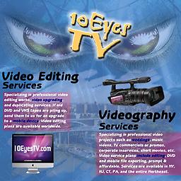 Deposit for ALL video, photo, and editing service plans This is a general deposit for ALL videography, photography, and video editing plans with 10 Eyes TV. This deposit will book and confirm your date and time of event.
