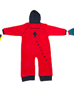 Ducksday Fleece (Red) DucKsday's high-quality fleeces provide a warm layer. Cute on their own for chilly days. Paired with a rainsuit, they create a flexible solution for any weather.
