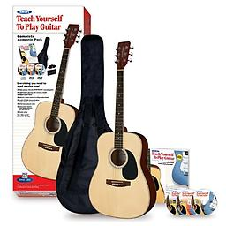 Alfred's Teach Yourself To Play Acoustic Guitar, Complete Starter Pack Alfred's Teach Yourself to Play Guitar is the best-selling guitar method for beginners of all ages Uses plain, easy-to-follow language that's easy for beginners to understand and makes learning fun