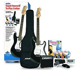 Alfred's Teach Yourself To Play Electric Guitar, Complete Starter Pack Alfred's Teach Yourself to Play Guitar is the best-selling guitar method for beginners of all ages Uses plain, easy-to-follow language that's easy for beginners to understand and makes learning fun