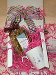 Gourmet Gift Set - Our adorable snowflake coffee mug with one 6 piece gourmet biscotti bag.