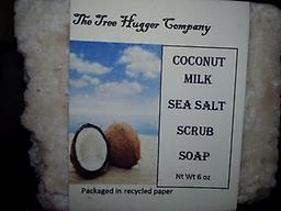 Coconut Sea Salt Scrub Soap This soap is the best of both worlds. Scrubbing and moisturizing. It will give your skin a nice buffed look.