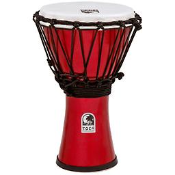Metallic Red Colorsound Djembe Toca Freestyle ColorSound Djembes are great for players of all ages. Perfect for musical students and educators, but ideal for any percussionist!