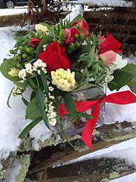 All I want for Christmas... Is this stunning Holland bouquet! Red roses, anemones, hydrangea, hyacinths, euphorbia is sure to please even the most fussiest of tastes!