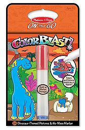 "Dinosaurs Colorblast Book - ON the GO Travel Activity Use the ""Magic"" pen to color in the Dinosaurs and see vibrant colors, details, and patterns appear!"