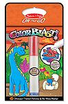 "Dinosaurs Colorblast Book - ON the GO Travel Activity - Use the ""Magic"" pen to color in the Dinosaurs and see vibrant colors, details, and patterns appear!"
