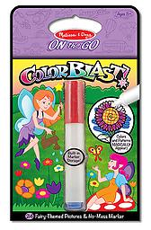 """Fairies Colorblast Book - ON the GO Travel Activity Use the """"Magic"""" pen to color in the fairies, and see vibrant colors, details, and patterns appear!"""