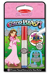 "Princess Colorblast Book - ON the GO Travel Activity Use the ""Magic"" pen to color in the princess pictures, and see vibrant colors, details, and patterns appear!"